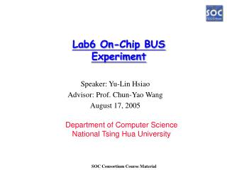 Lab6 On-Chip BUS Experiment
