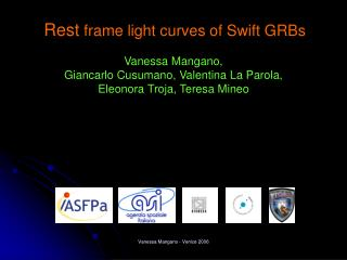 Rest  frame light curves of Swift GRBs