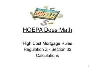 HOEPA Does Math