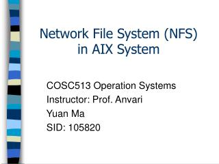 Network File System (NFS)  in AIX System