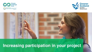 Increasing participation in your project