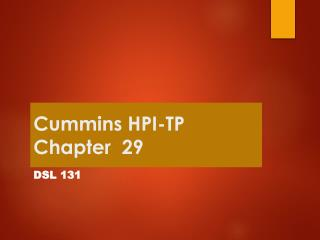 Cummins HPI-TP Chapter  29