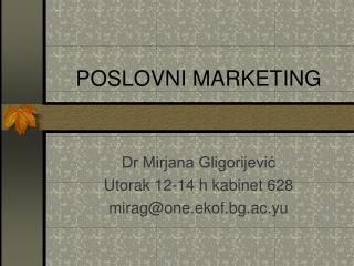 POSLOVN I MARKETING