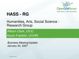 HASS - RG Humanities, Arts, Social Science - Research Group
