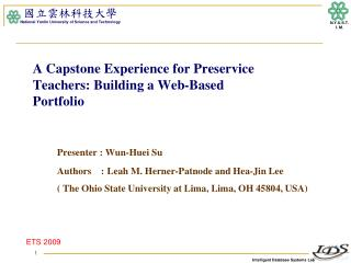 A Capstone Experience for Preservice Teachers: Building a Web-Based  Portfolio