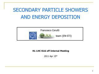 SECONDARY PARTICLE SHOWERS AND ENERGY DEPOSITION