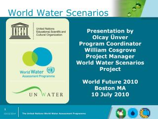 World Water Scenarios