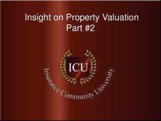 Insight on Property Valuation  Part #2