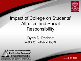Impact of College on Students' Altruism and Social Responsibility