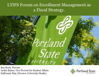 LTIFS Forum on Enrollment Management as a Fiscal Strategy.