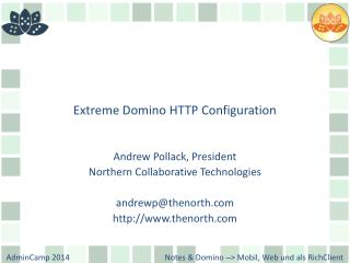 Extreme Domino HTTP Configuration
