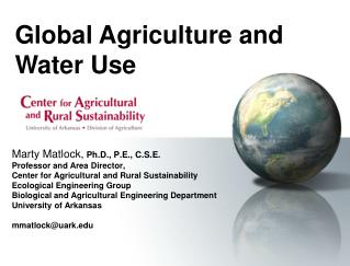 Global Agriculture and Water Use
