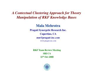 A Contextual Clustering Approach for Theory Manipulation of RKF Knowledge Bases