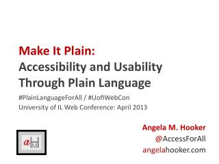 Make It Plain: Accessibility and Usability Through Plain Language