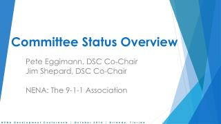 Committee Status Overview