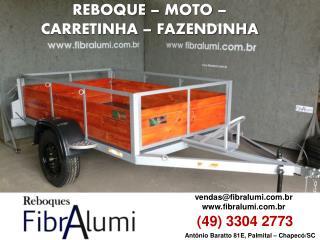 REBOQUE - MOTO - CARRETINHA - FAZENDINHA