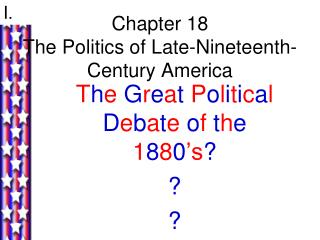 Chapter 18 The Politics of Late-Nineteenth-Century America