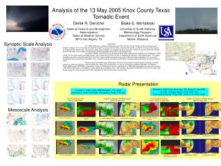 Analysis of the 13 May 2005 Knox County Texas Tornadic Event