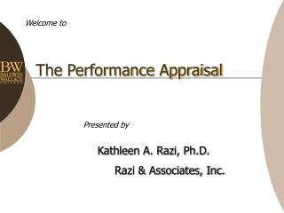 The Performance Appraisal