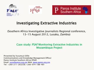 Case study: PSAf Monitoring Extractive Industries in Mozambique Project
