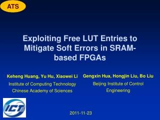 Exploiting Free LUT Entries to Mitigate Soft Errors in SRAM-based FPGAs