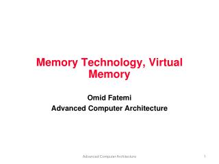 Memory Technology, Virtual Memory