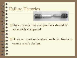 Failure Theories
