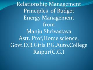 Relationship Management  ds ewy rRo (Elements)