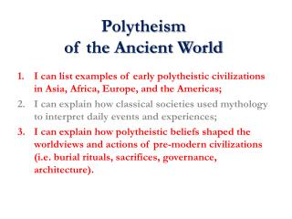 Polytheism  of the Ancient World
