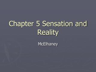 Chapter 5 Sensation and Reality