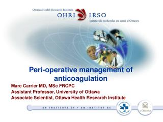 Peri-operative management of anticoagulation