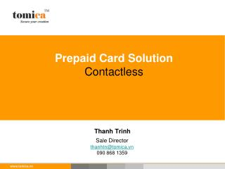 Prepaid Card Solution Contactless