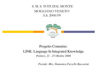 Progetto Comenius: LINK: Language In Integrated Knowledge Poitiers, 21 - 25 Ottobre 2008