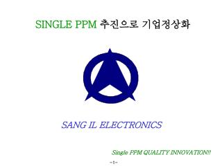 Single PPM QUALITY INNOVATION!!