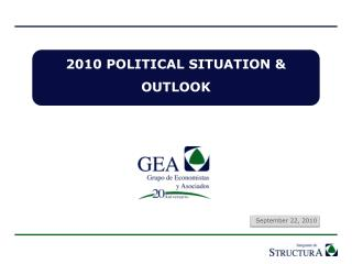2010 POLITICAL SITUATION & OUTLOOK