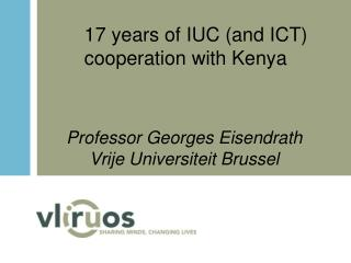 17 years of IUC (and ICT) cooperation with Kenya