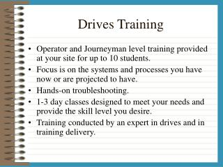 Drives Training