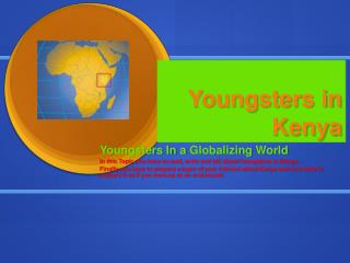 Youngsters in Kenya