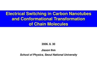Jisoon Ihm School of Physics, Seoul National University