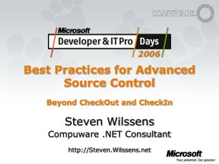 Best Practices for Advanced Source Control Beyond CheckOut and CheckIn