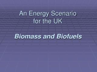 An Energy Scenario for the UK Biomass and Biofuels