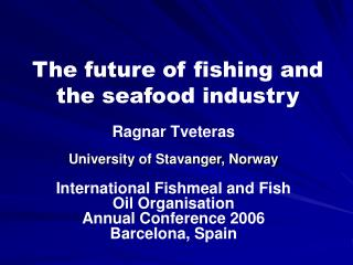 The future of fishing and the seafood industry