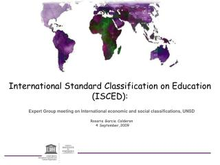 International Standard Classification on Education (ISCED):