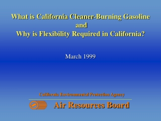 What is California Cleaner-Burning Gasoline