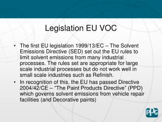Legislation EU VOC