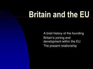 Britain and the EU