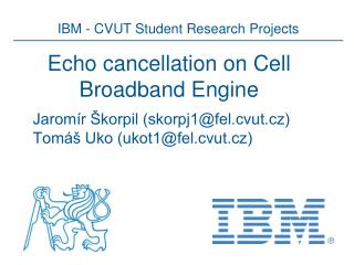 Echo  cancellation  on Cell Broadband Engine