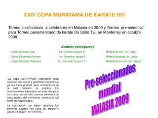 XXIV COPA MURAYAMA DE KARATE DO