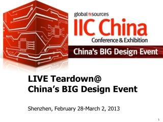 LIVE Teardown@  China's BIG Design Event