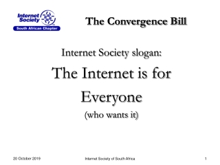 The Convergence Bill
